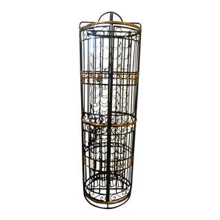 1990s Italian Bird Cage 72 Bottle Wine Cabinet Rack For Sale