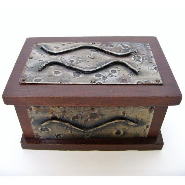 Hand-Crafted Wood & Metal Box - Image 2 of 6