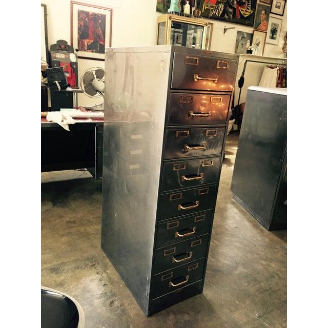 Vintage Polished Modern Metal Steelcase 8-Drawer File Cabinet - Image 3 of 8