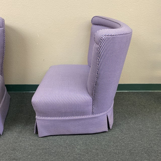 Mid 20th Century Custom Slipper Chairs- a Pair For Sale In San Francisco - Image 6 of 13