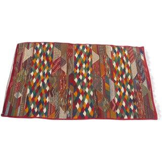 "Moroccan Berber Tribal Kilim Rug - 3' 9"" x 6' 7"""