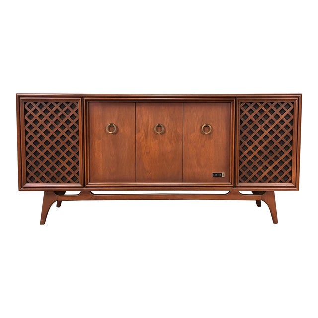 Zenith Mid-Century Modern Stereo Console / Radio / Record Player / Tv Stand For Sale