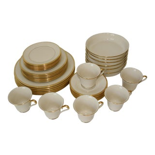 Lenox Dimension Collection Eternal Pattern Fine China Dinnerware Service for 6 - Set of 36 Pieces For Sale