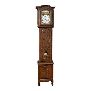 19th Century French Long Case Clock by Francois Desire' Odobez A' Morez 1843 For Sale
