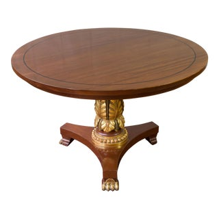 Neoclassical Style Wood Center Table For Sale