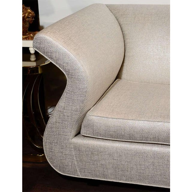 Hollywood Regency Sofa Designed by Sergio Savarese for Dialogica For Sale In New York - Image 6 of 12