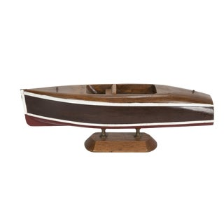 Small Wooden Cabin Cruiser Boat Model For Sale