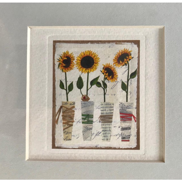 Custom wall decor with three botanical images - sunflowers, hydrangea and roses - clean minimalist design works well in...