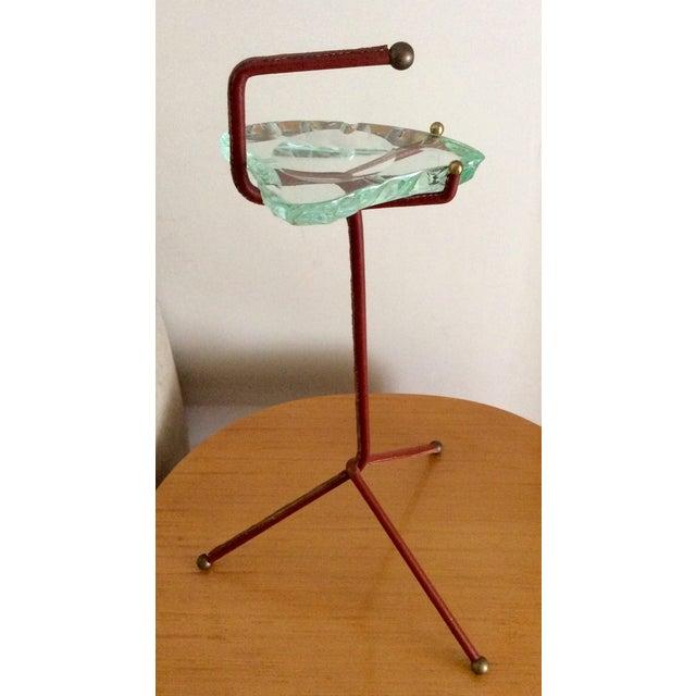 Smoking Stand With Fontana Arte Glass Ashtray - Image 6 of 6