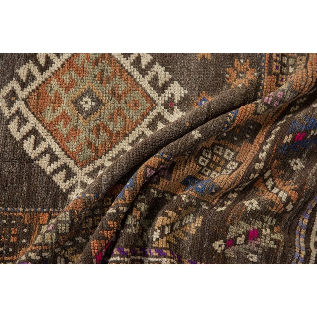 """Shabby Chic Vintage Distressed Oushak Rug - 4'1"""" X 6'2"""" For Sale - Image 3 of 10"""