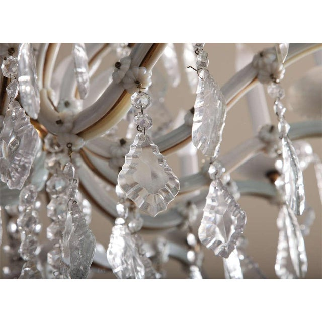 Early 20th Century Early 20th Century White Glass Maria Theresa Style Chandelier For Sale - Image 5 of 9
