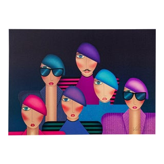 """Robin Morris """"Francois and a Few Friends"""" Signed For Sale"""