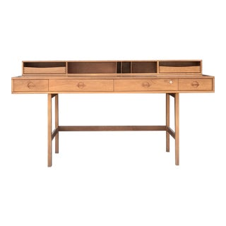 Mid-Century Peter Løvig Nielsen Flip Top Teak Desk For Sale