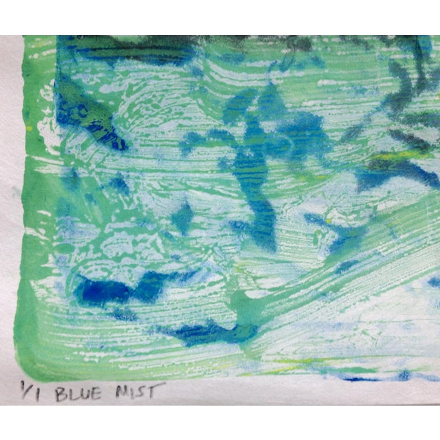 """Blue Mist"" Handmade Ink on Paper Monotype, 2016 - Image 2 of 4"