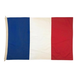 Tea-Stained Cotton Flag of France For Sale