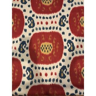 Boho Chic Brunschwig & Fils Samarkand Hand Print Cotton Linen Fabric - 3 5/8 Yards For Sale
