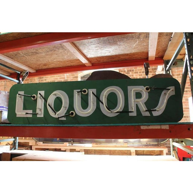 1950s neon sign LIQUORS. New neon and new wiring.