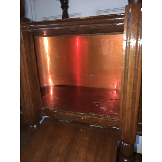 Antique Copper Lined Smoking Stand For Sale - Image 5 of 5