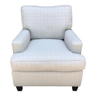 A. Rudin Art Deco Fully Upholstered Designer Club Chair For Sale