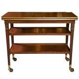 Image of Maison Jansen French Directoire Mahogany Tea Cart For Sale