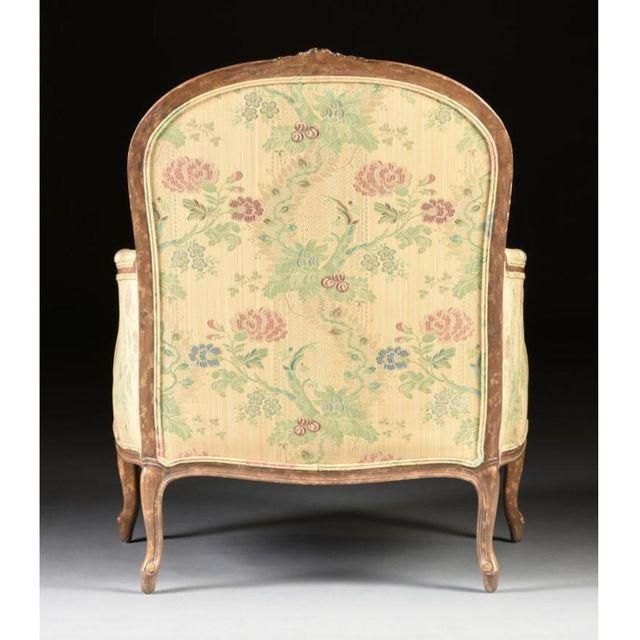 Louis XV Style Bergere & Footstool For Sale - Image 4 of 8