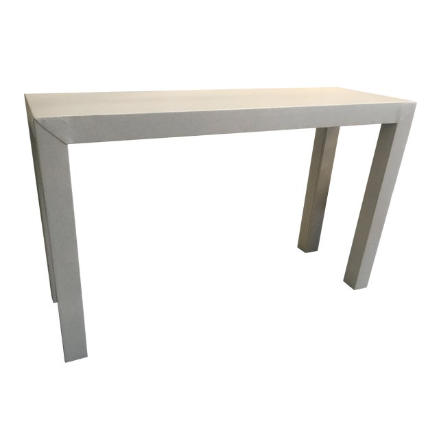 Upholstered Celine Parsons Table - Image 1 of 9