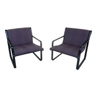 1970s Vintage Hannah Morrison for Knoll Lounge Chairs - A Pair For Sale