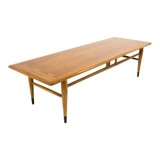 Andre Bus for Lane Acclaim Mid Century Walnut Dovetail Coffee Table For Sale