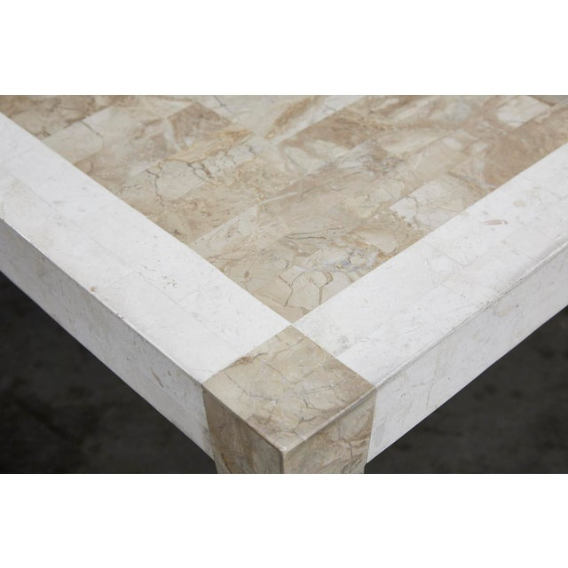 1990s 1990s Postmodern Dual Color Tessellated Stone Cube Square Coffee Table For Sale - Image 5 of 13