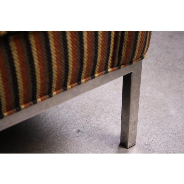 Contemporary Rare Axel Roffman Original Upholstery With a Chrome Base Sofa For Sale - Image 3 of 4