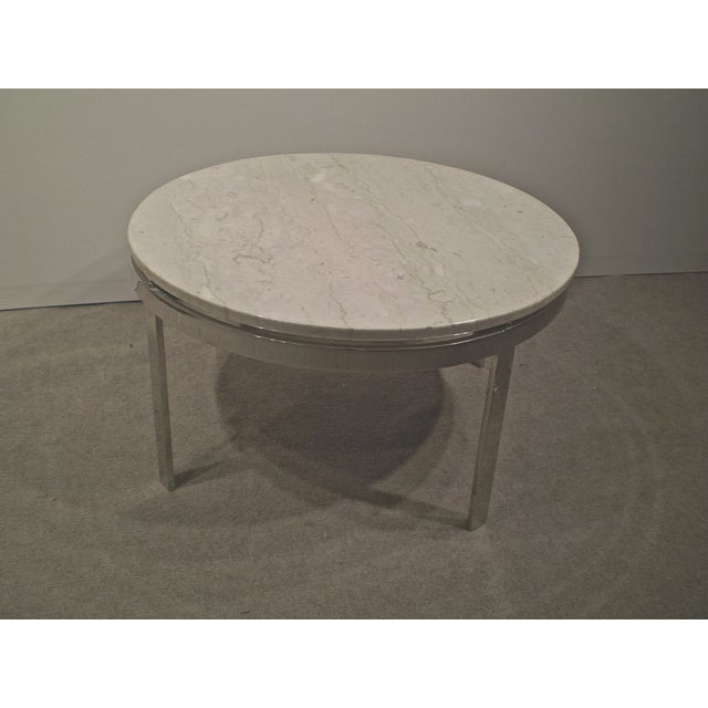 Chrome Base Stone Top Coffee/Side Table - Image 3 of 5