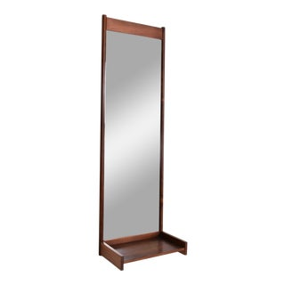 Rosewood Wall Mirror Made in Sweden, Mid Century Danish Modern For Sale