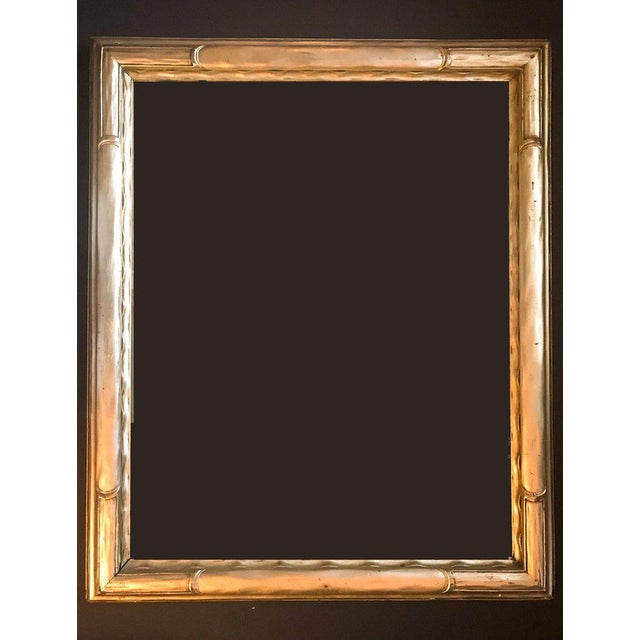 This beautiful American Taos School frame is hand carved and water gilded in 22-carat gold leaf. There are relatively few...