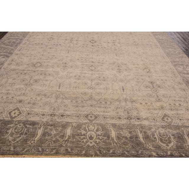 """Modern Oushak Rug- 9'10"""" x 13'8"""" For Sale In New York - Image 6 of 7"""