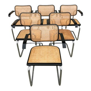 Vintage Mid-Century Modern Marcel Breuer Cesca Style Chairs - Set of 6 For Sale