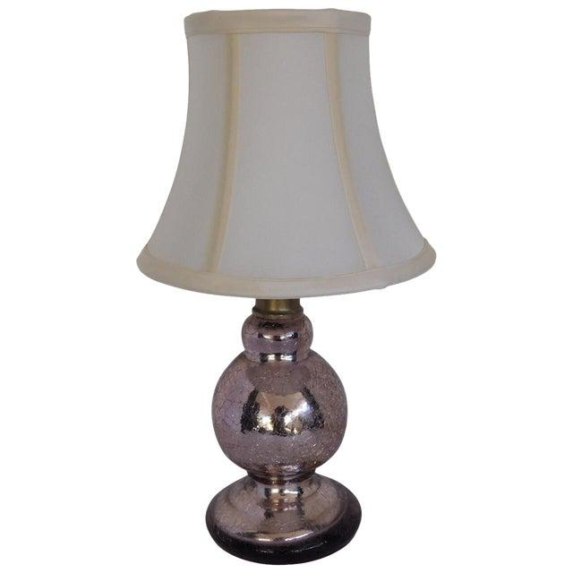 Vintage Pink Mercury Glass Boudoir Lamp - Image 1 of 5