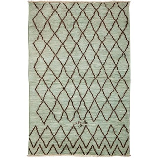 Green Moroccan Tribal Rug For Sale
