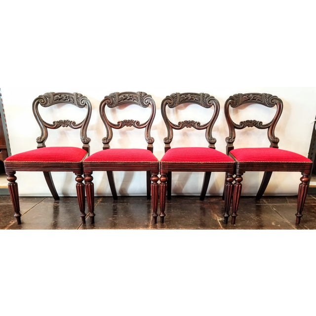 Set of Four Georgian / Regency / William IV / Victorian Rosewood Chairs Attributed to Gillows of Lancaster For Sale - Image 10 of 10