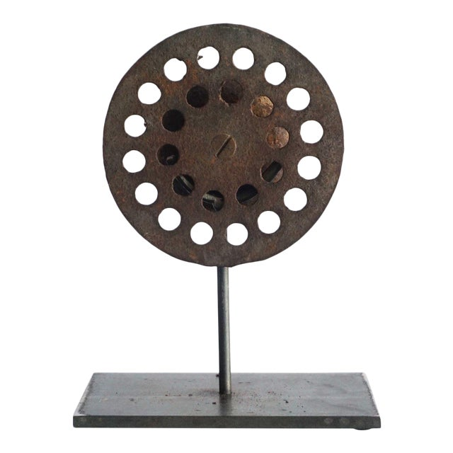 Perforated Found Object Sculpture For Sale