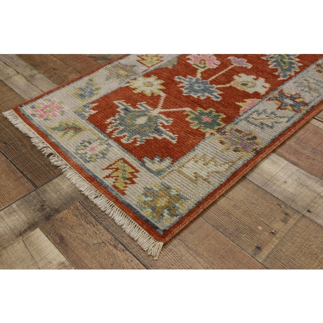 Textile Early 21st Century Oushak Accent Rug- 2' X 3'10 For Sale - Image 7 of 8