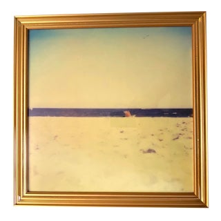 """""""End of Summer"""" Contemporary Abstract Beach Scene Photograph Print, Framed For Sale"""