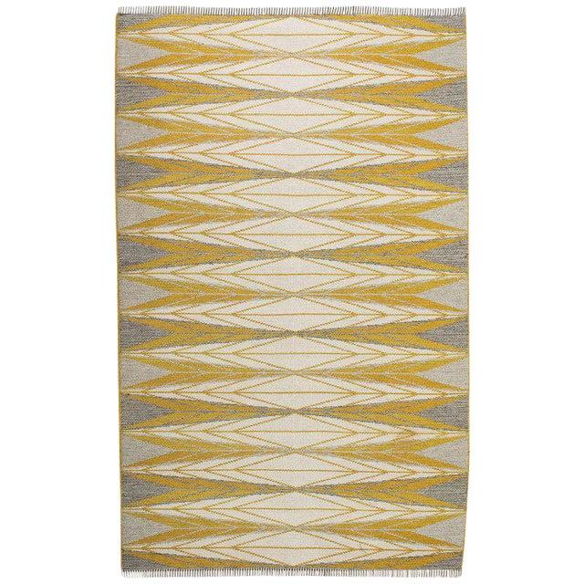 "Vintage Ingrid Dessau ""Sylarna"" Flat-Weave Swedish Carpet - Image 1 of 7"