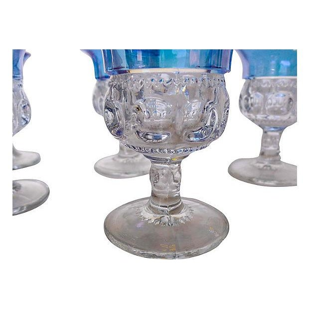 1940s Blue King's Crown Cordials - Set of 6 - Image 3 of 5