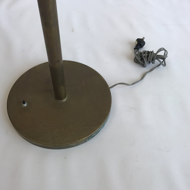 Vintage Brass Torchiere Floor Lamp For Sale In San Francisco - Image 6 of 7
