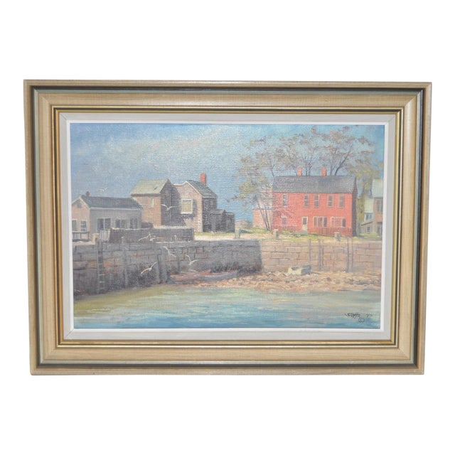 Rockport Massachusetts Oil Painting by Michael Stoffa For Sale