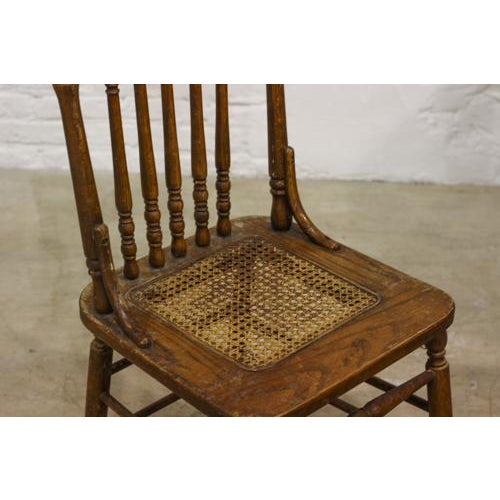 Vintage Press Back Chair - Image 3 of 4