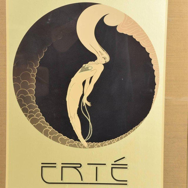 """For your consideration a vintage poster depicting Erte's screen-print """"L'Amour"""" from the suite """"The Four Emotions"""", circa..."""