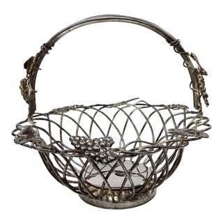 Vintage Godinger Silver Plate Intertwined Basket For Sale