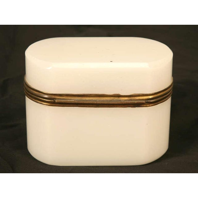 Circa 1900 French Opaline Glass Box For Sale In Chicago - Image 6 of 10