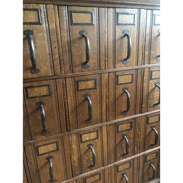 Beautiful late 1800s Oak Globe Document File. Incredible craftsmanship. 24 drawers. Excellent condition. A beautiful piece...